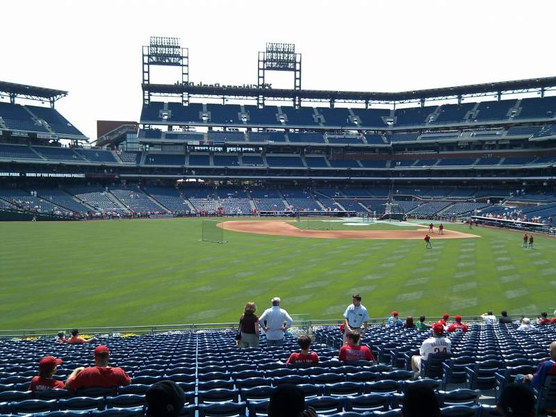 Seating view for Citizens Bank Park Section 145 Row 23 Seat 7