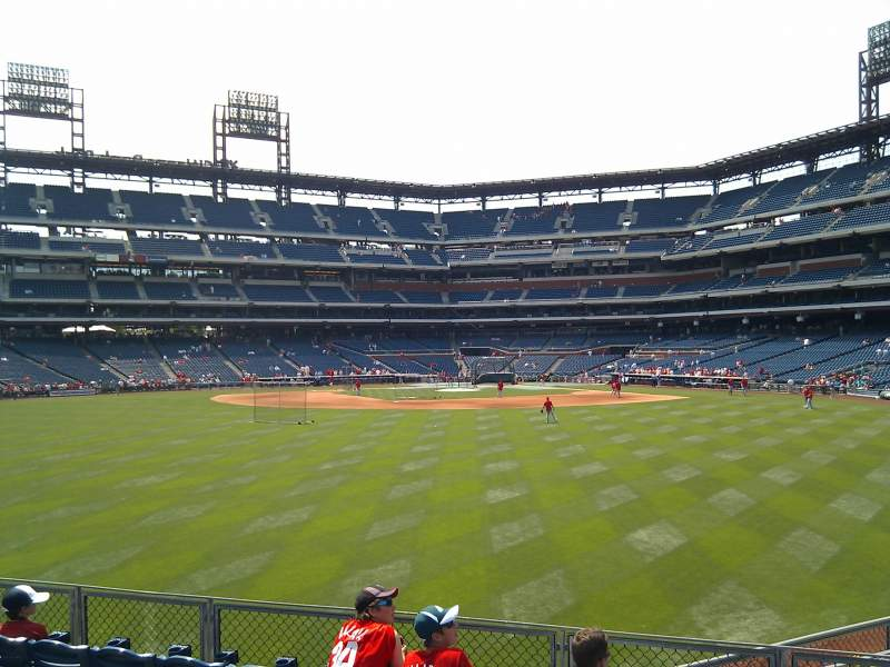 Seating view for Citizens Bank Park Section 148 Row 10 Seat 3