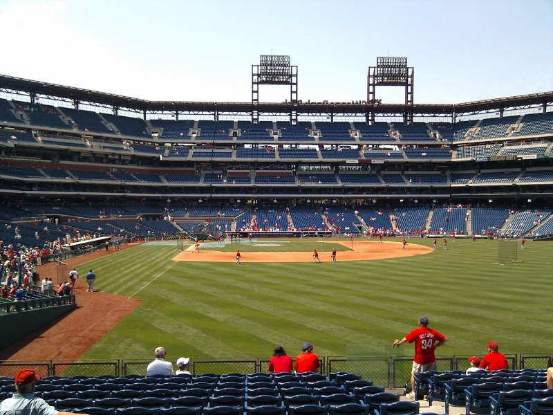 Seating view for Citizens Bank Park Section 106 Row 14 Seat 4