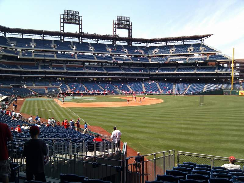 Seating view for Citizens Bank Park Section 107 Row 35 Seat 19