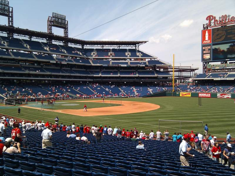 Seating view for Citizens Bank Park Section 111 Row 30 Seat 6