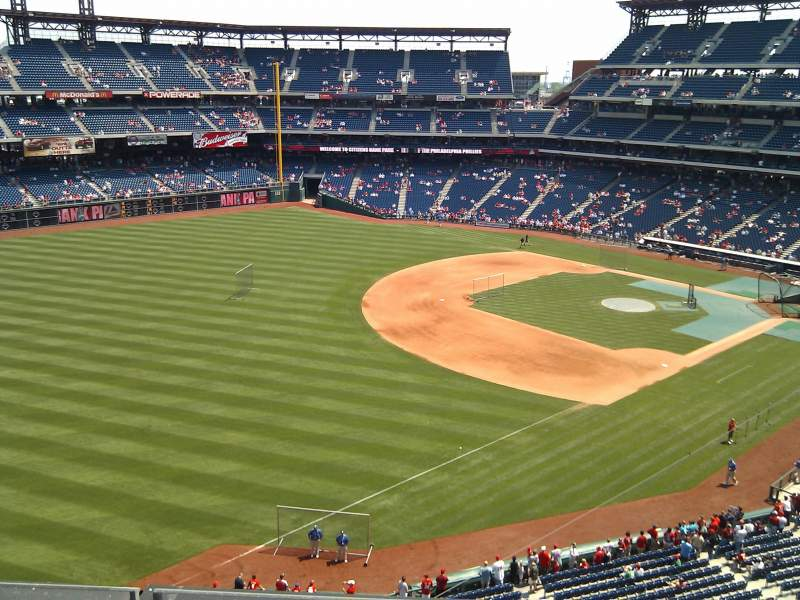 Seating view for Citizens Bank Park Section 331 Row 4 Seat 19