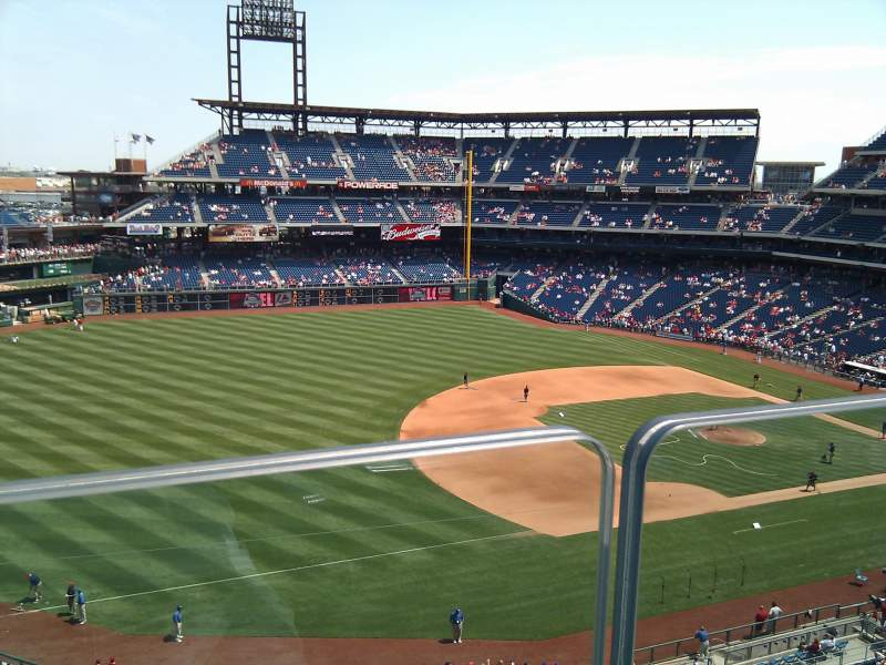 Seating view for Citizens Bank Park Section 320 Row 1 Seat 16