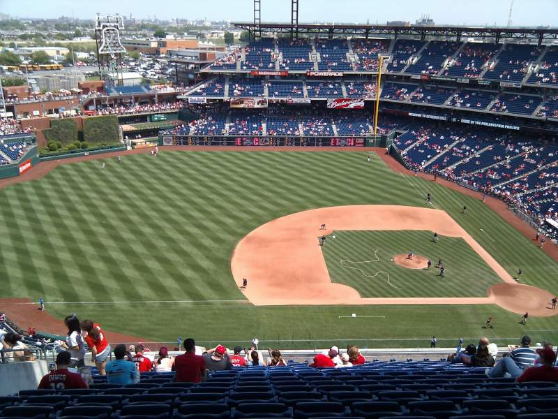 Seating view for Citizens Bank Park Section 427 Row 16 Seat 16