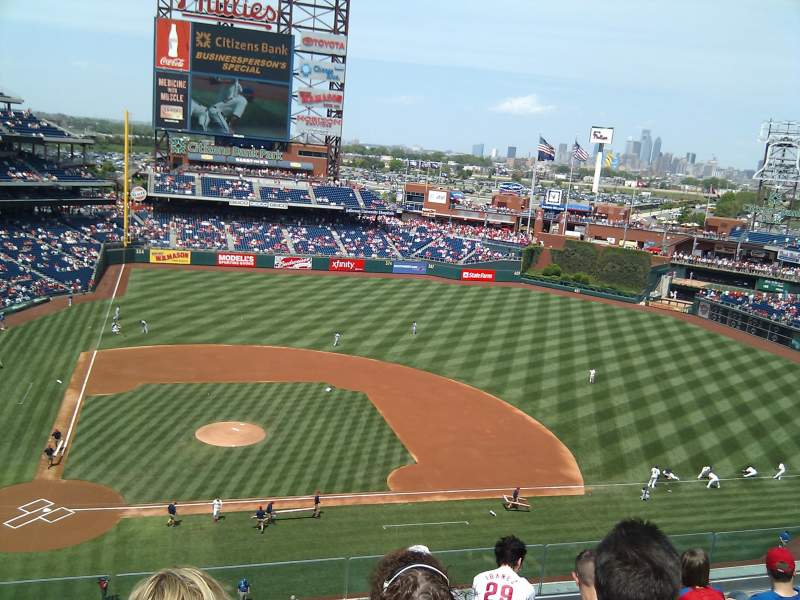 Seating view for Citizens Bank Park Section 316 Row 6 Seat 21
