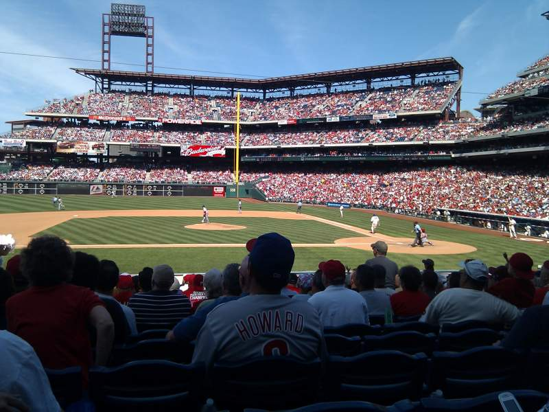 Seating view for Citizens Bank Park Section 130 Row 20 Seat 12