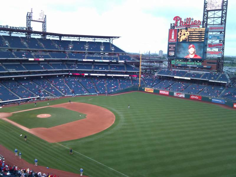 Seating view for Citizens Bank Park Section 309 Row 11 Seat 14