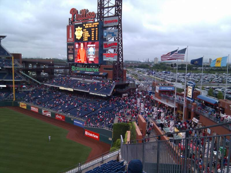 Seating view for Citizens Bank Park Section 301 Row 10 Seat 18