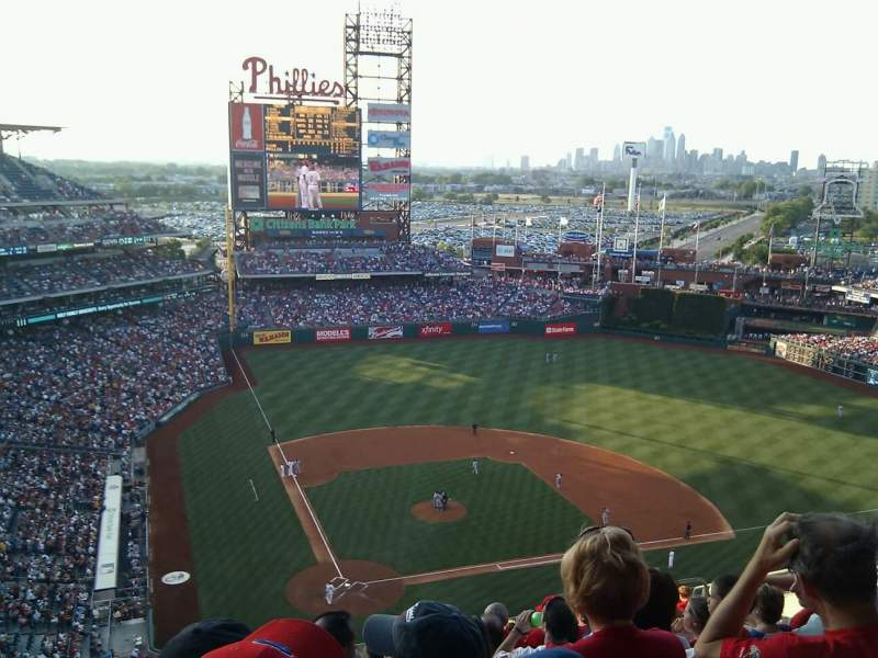 Seating view for Citizens Bank Park Section 418 Row 13 Seat 13