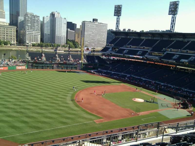 Seating view for PNC Park Section 328 Row h Seat 14