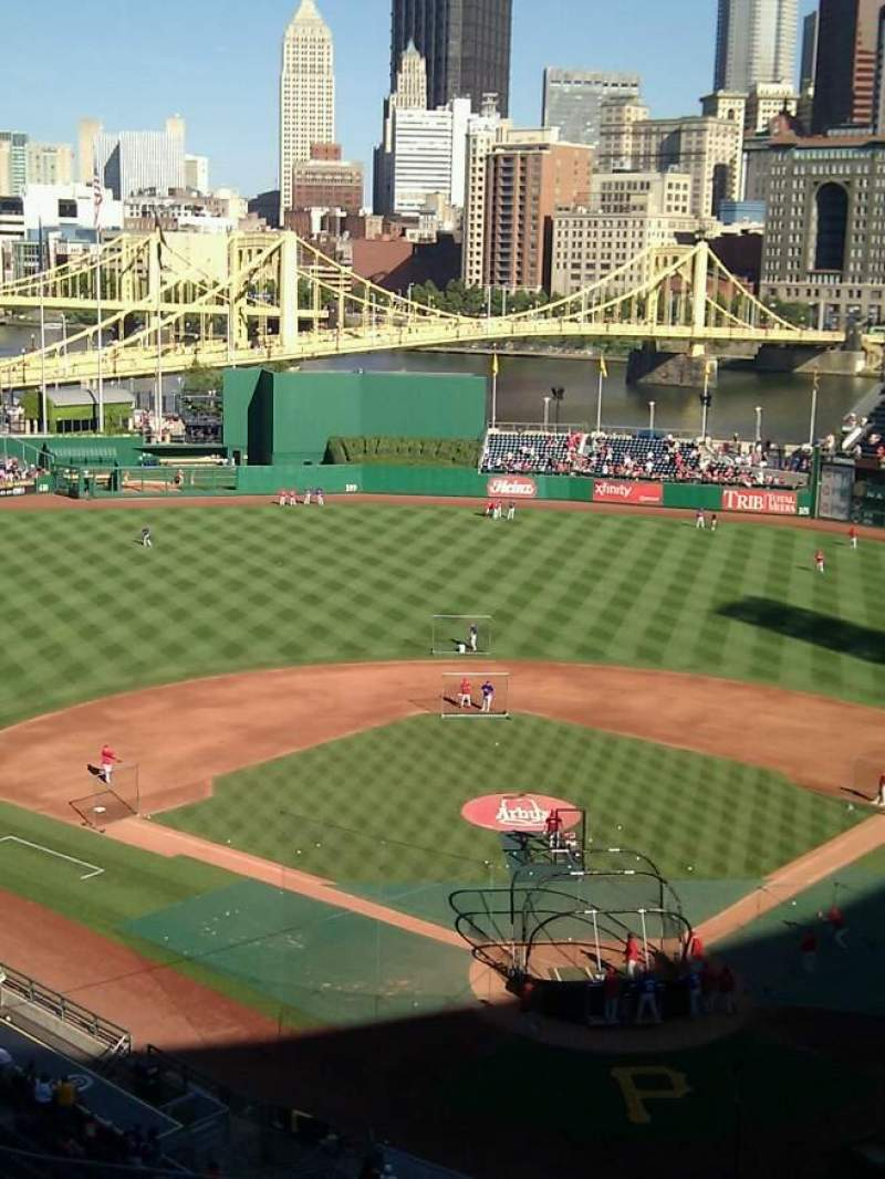 Seating view for PNC Park Section 318 Row h Seat 14