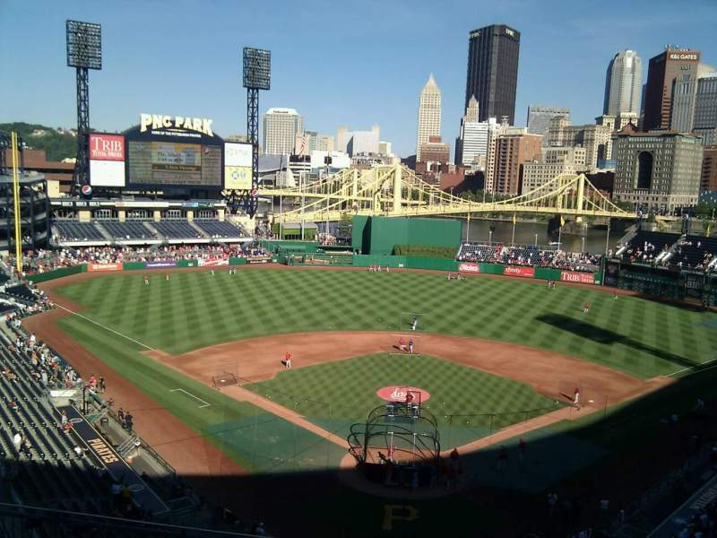 Seating view for PNC Park Section 318 Row a Seat 16