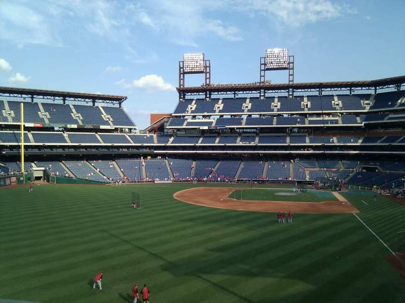Seating view for Citizens Bank Park Section 241 Row 1 Seat 16
