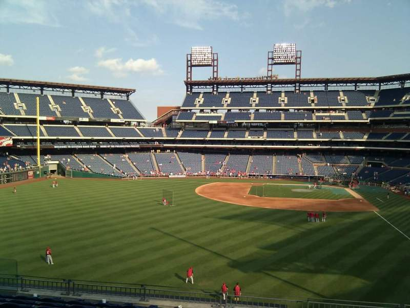 Seating view for Citizens Bank Park Section 242 Row 9 Seat 12