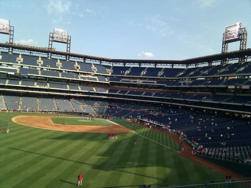 Seating view for Citizens Bank Park Section 243 Row 6 Seat 22