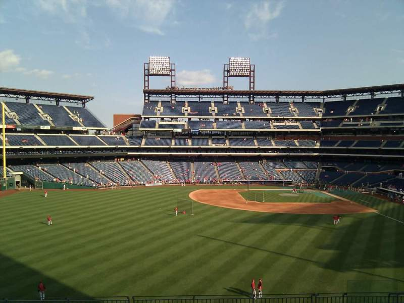 Seating view for Citizens Bank Park Section 244 Row 11 Seat 10