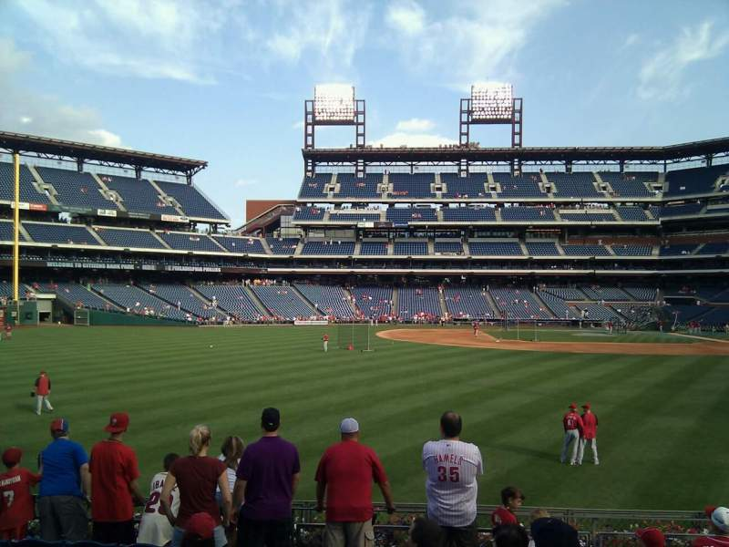 Seating view for Citizens Bank Park Section 144 Row 9 Seat 12