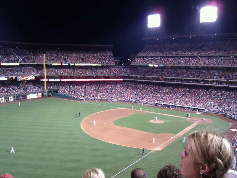 Seating view for Citizens Bank Park Section 332 Row 4 Seat 5
