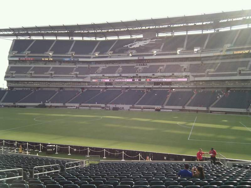 Seating view for Lincoln Financial Field Section 123 Row 23 Seat 14