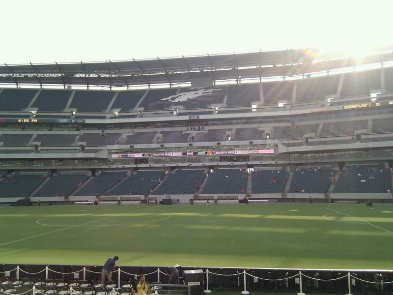 Seating view for Lincoln Financial Field Section 122 Row 12 Seat 15
