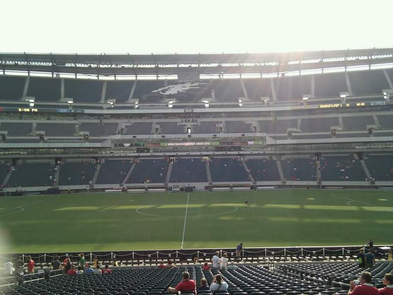 Seating view for Lincoln Financial Field Section 120 Row 32 Seat 6