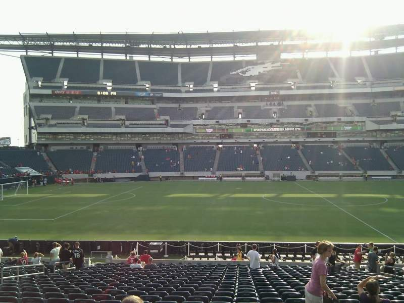 Seating view for Lincoln Financial Field Section 119 Row 24 Seat 11