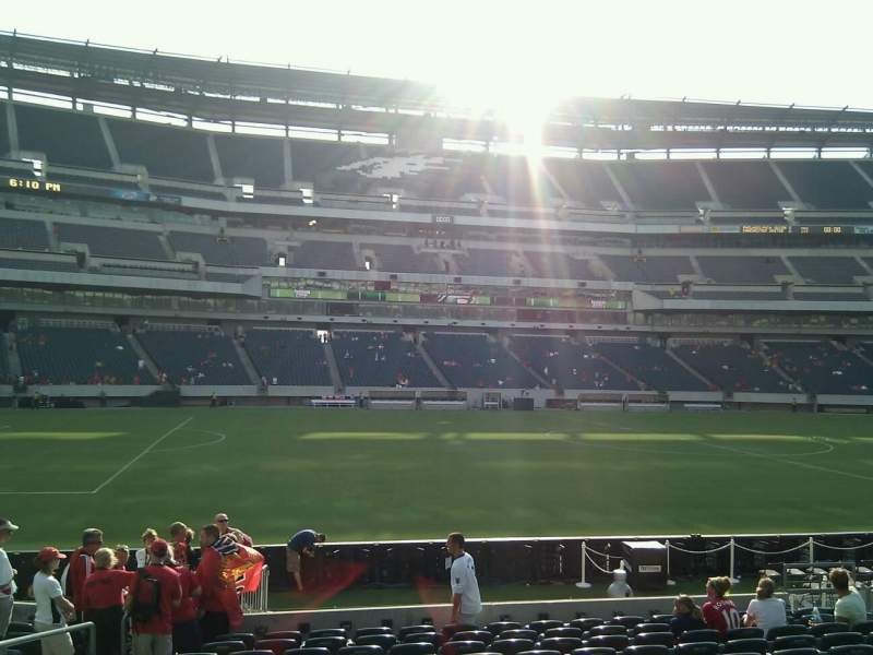 Seating view for Lincoln Financial Field Section 118 Row 13 Seat 14