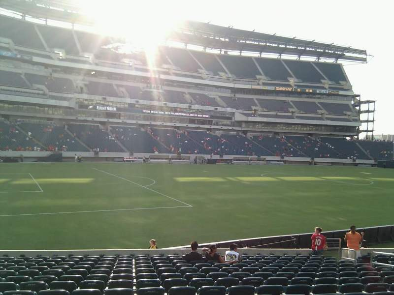Seating view for Lincoln Financial Field Section 116 Row 16 Seat 13