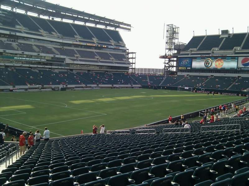 Seating view for Lincoln Financial Field Section 115 Row 27 Seat 25