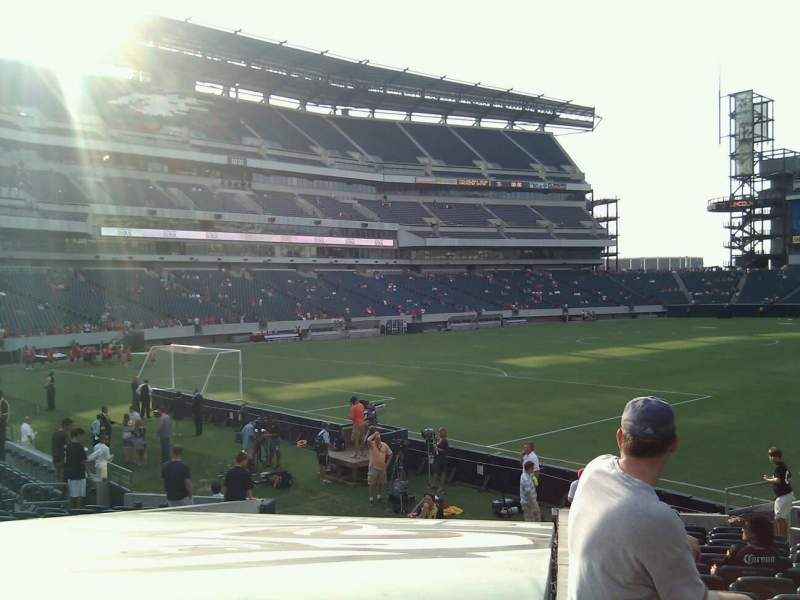 Seating view for Lincoln Financial Field Section 114 Row 16 Seat 13