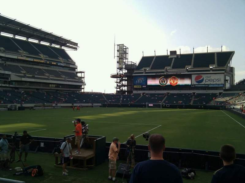Seating view for Lincoln Financial Field Section 113 Row 4 Seat 4
