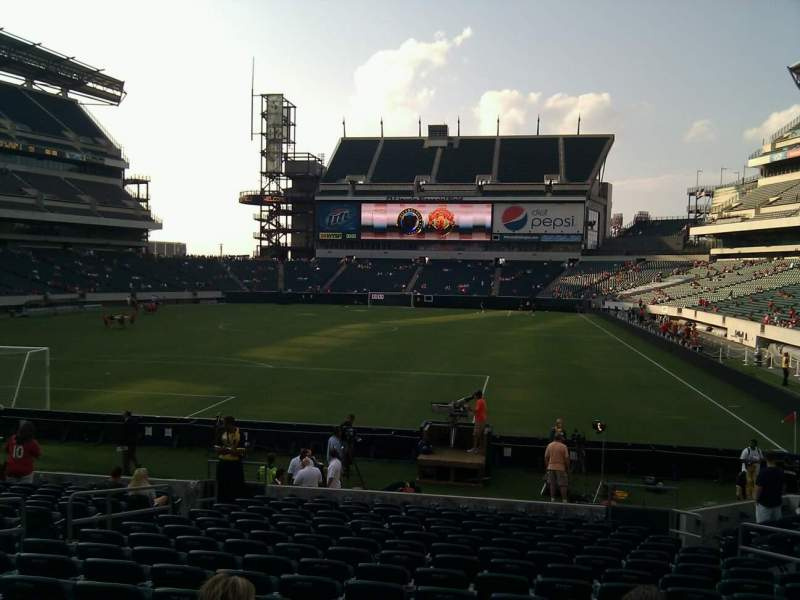 Seating view for Lincoln Financial Field Section 112 Row 16 Seat 12