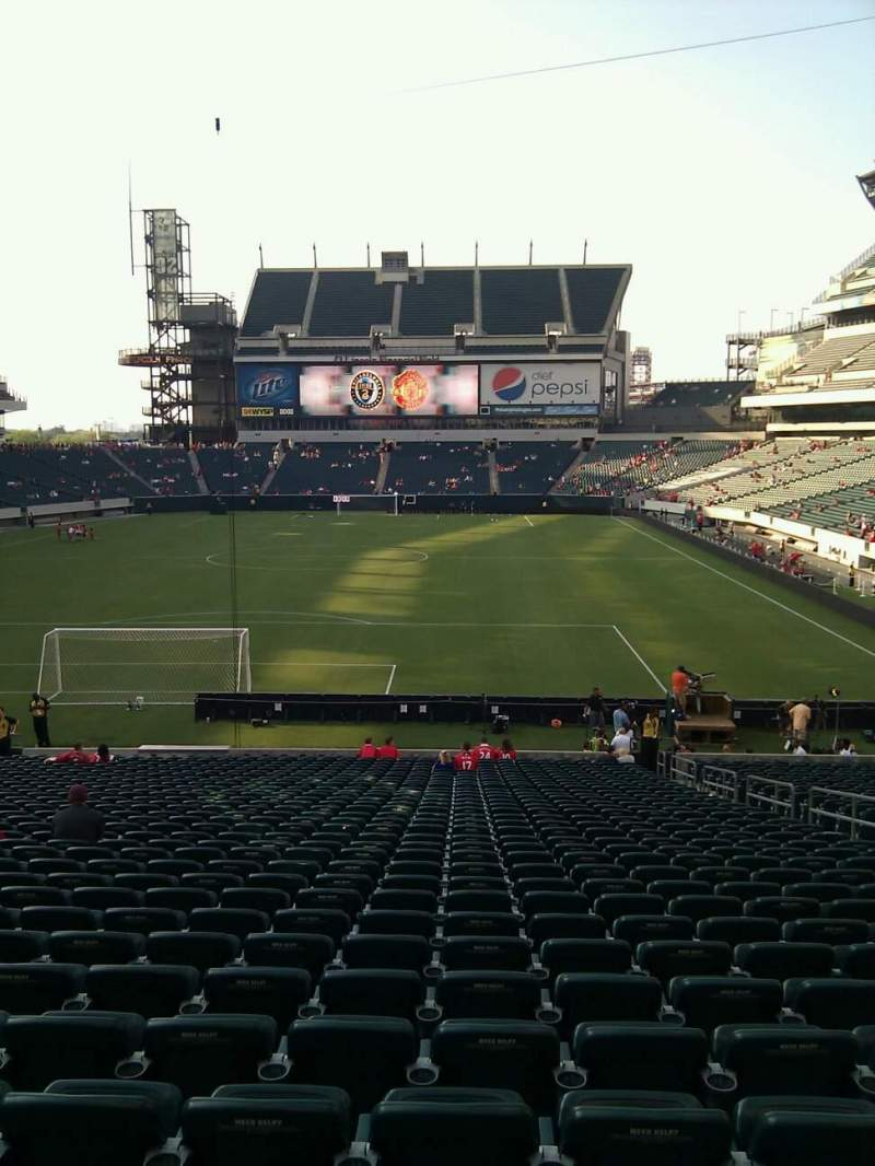 Seating view for Lincoln Financial Field Section 111 Row 34 Seat 6