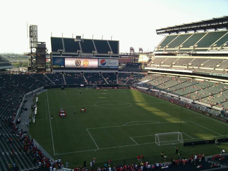 Seating view for Lincoln Financial Field Section M9 Row 16 Seat 5