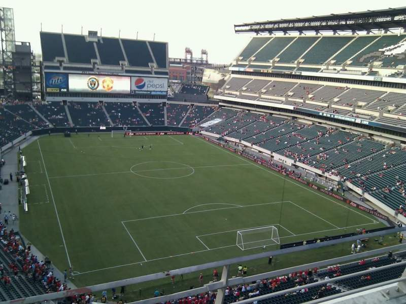 Seating view for Lincoln Financial Field Section 209 Row 2 Seat 11