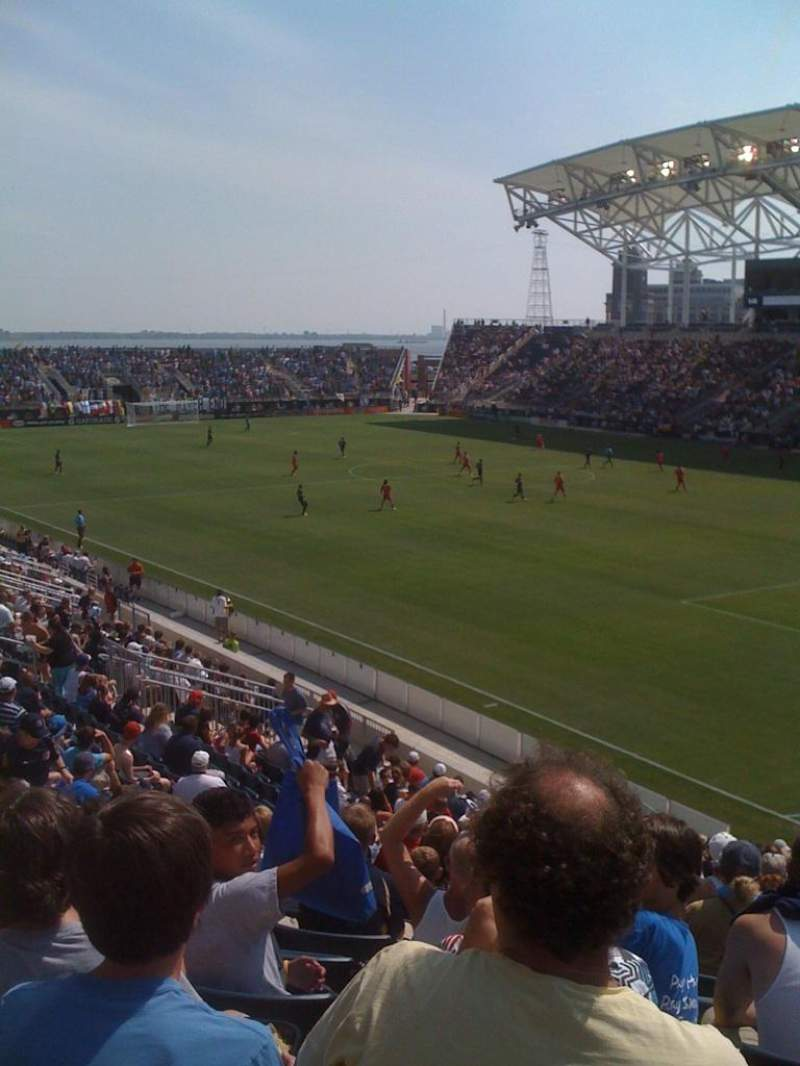 Seating view for Talen Energy Stadium Section 121 Row z Seat 17