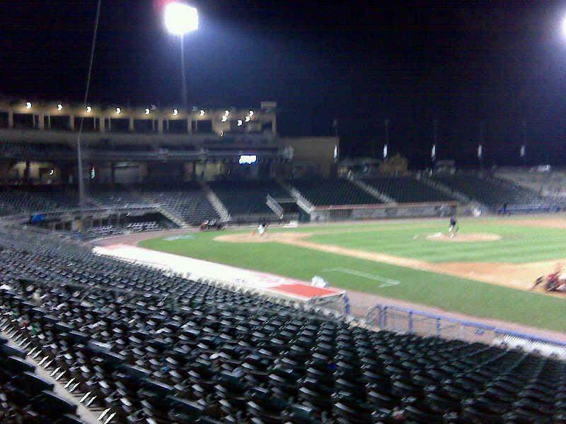 Seating view for Coca-Cola Park Section 104 Row u Seat 1