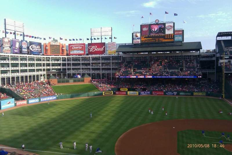 Seating view for Globe Life Park in Arlington Section 219