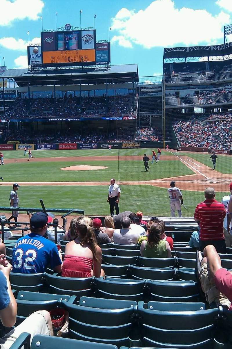 Seating view for Globe Life Park in Arlington Section 21 Row 11 Seat 5