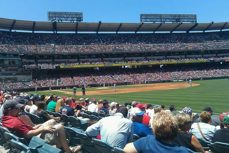 Seating view for Angel Stadium Section F130 Row H Seat 9