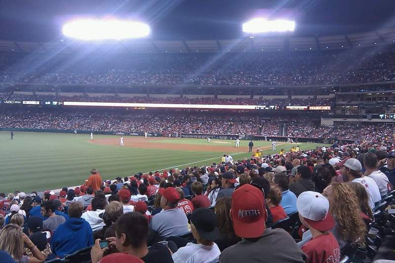 Seating view for Angel Stadium Section F105 Row R Seat 1