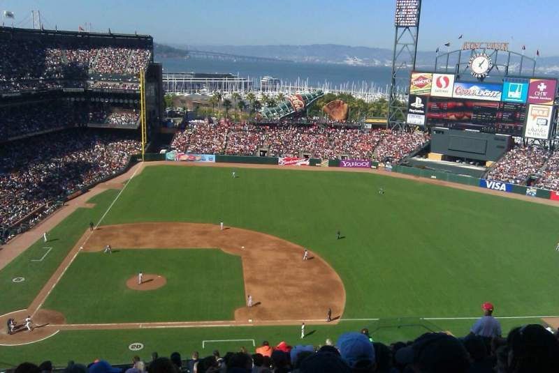 Seating view for AT&T Park Section 308 Row L Seat 8