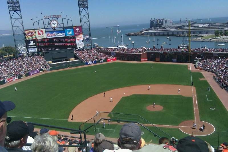 Seating view for AT&T Park Section 323 Row J Seat 4