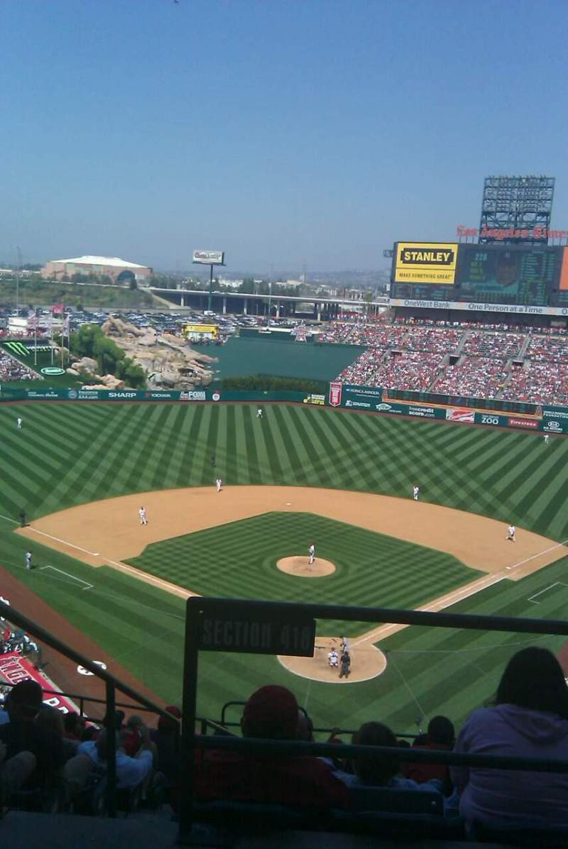 Seating view for Angel Stadium Section V418 Row I Seat 1