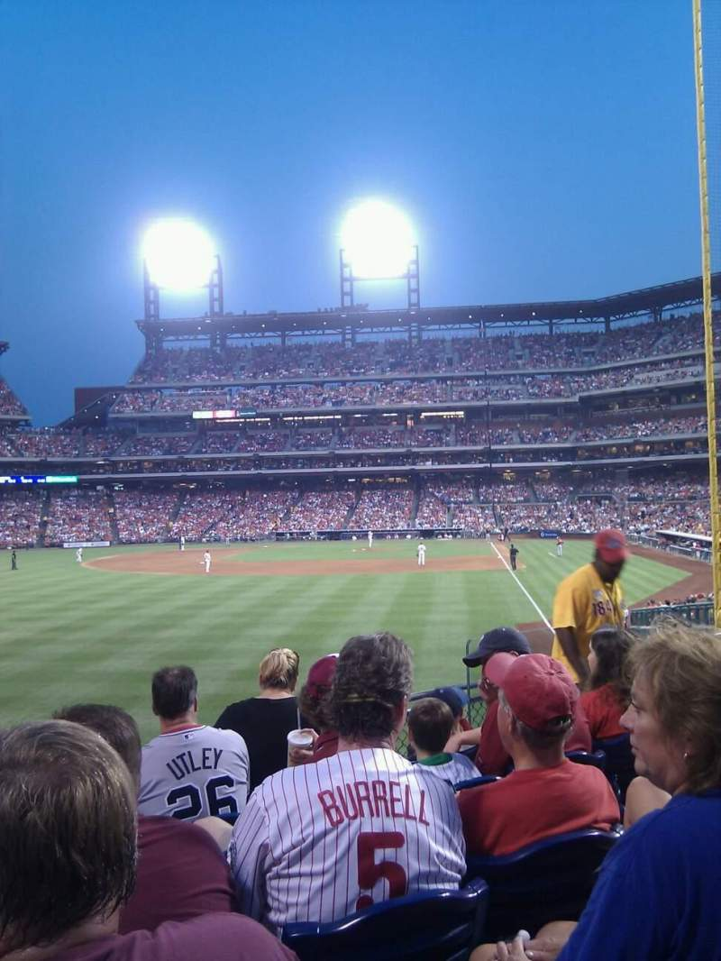 Seating view for Citizens Bank Park Section 142 Row 11 Seat 9