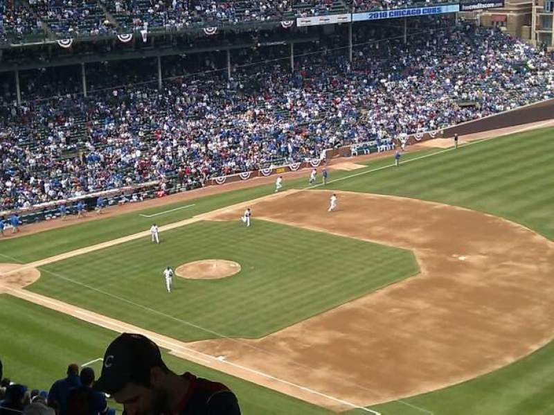Seating view for Wrigley Field Section 428R Row 7 Seat 1