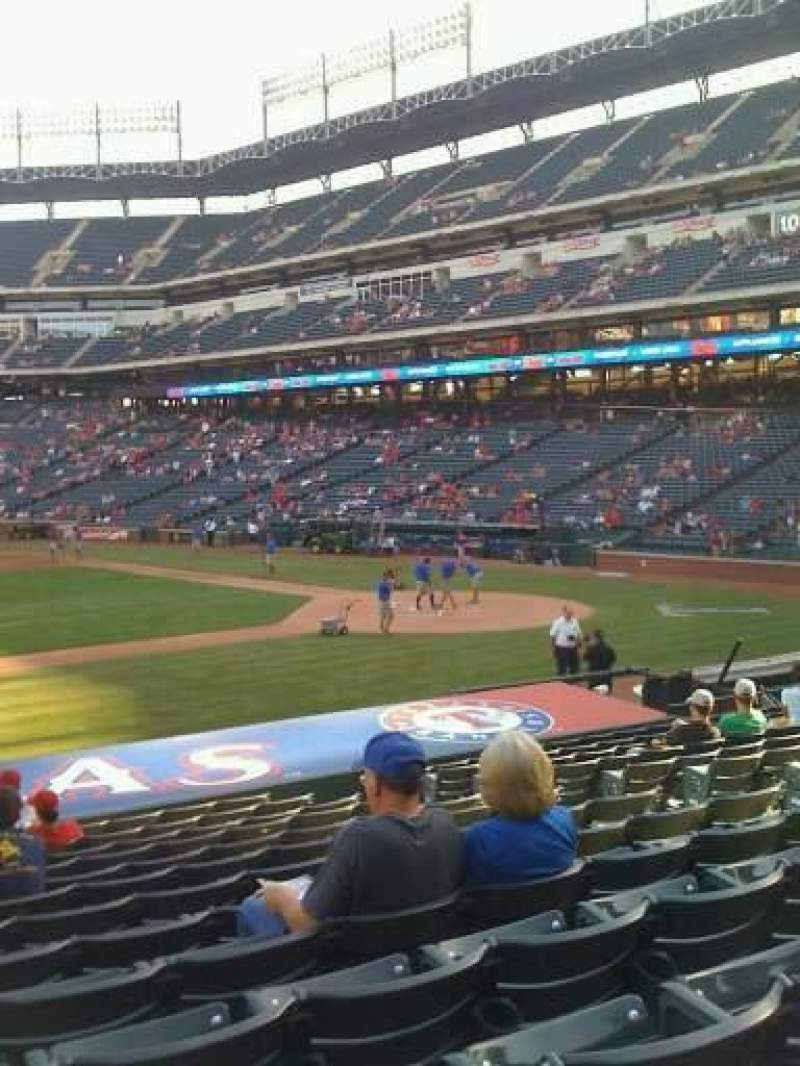 Seating view for Globe Life Park in Arlington Section 19 Row 16 Seat 10