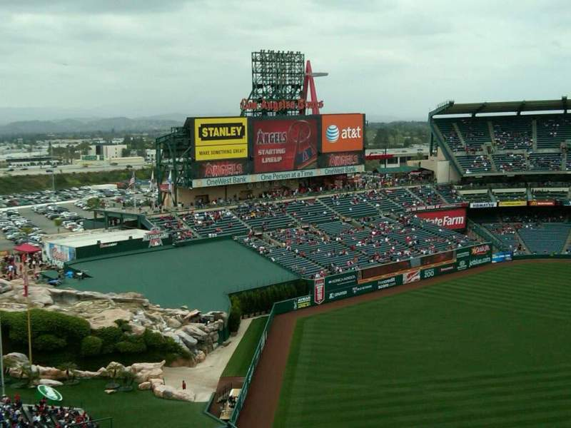 Seating view for Angel Stadium Section V507
