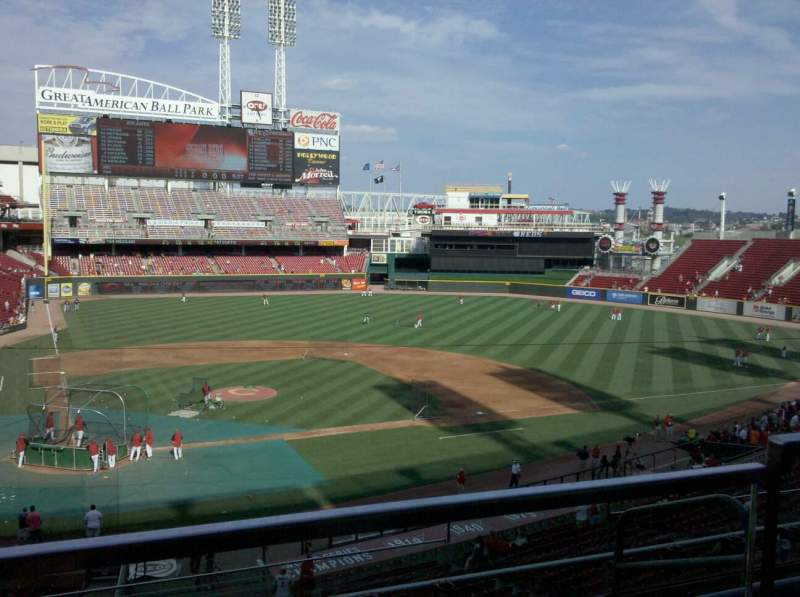 Seating view for Great American Ball Park Section 301