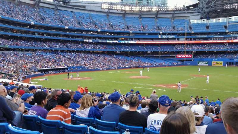 Seating view for Rogers Centre Section 115L Row 28 Seat 1